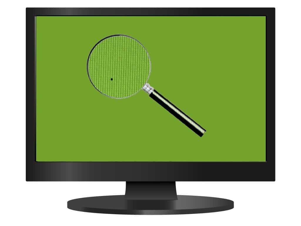 Как проверить телевизор на битые пиксели? - битый пиксель