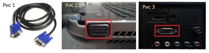Подключаем ноутбук к телевизору разными способами - через VGA